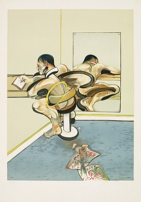 "Francis Bacon, nach ""Figure Writing Reflected in a Mirror, 1976"",Tacou 8"