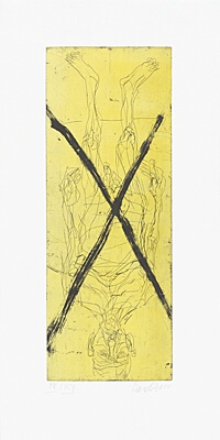 "Georg Baselitz, ""Avignon dada strip"""