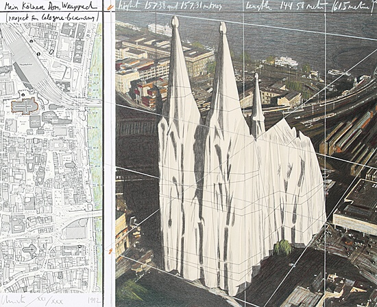 "Christo & Jeanne-Claude, ""Mein Kölner Dom, Wrapped"""
