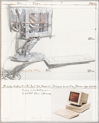 "Christo & Jeanne-Claude, ""Ericsson Display Monitor Unit 3111, Wrapped"",Schellmann 120"
