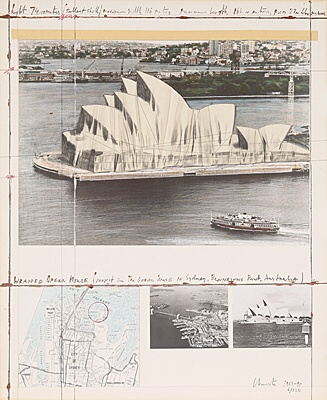 "Christo & Jeanne-Claude, ""Wrapped Opera House"", Schellmann 155"