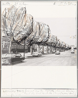 "Christo & Jeanne-Claude, ""Wrapped Trees"",Schellmann 124"