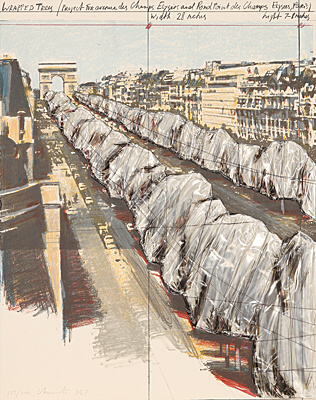 "Christo & Jeanne-Claude, ""Wrapped Trees"", Schellmann 133"