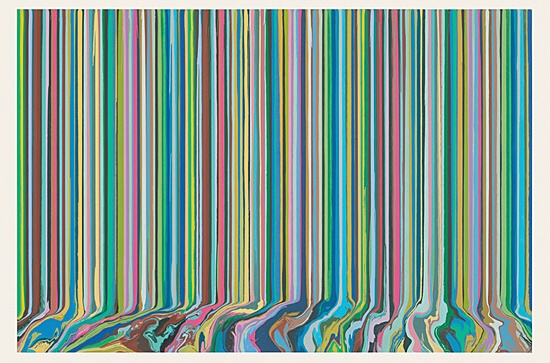 "Ian Davenport, ""Poured Triptych Etching: Ambassadors (After Holbein)"""