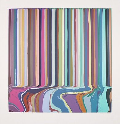 "Ian Davenport, ""Purple, Green"""