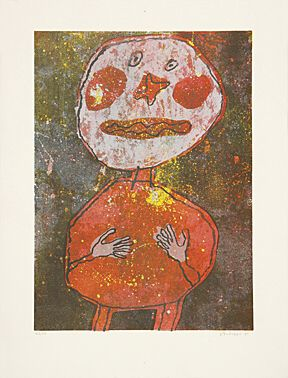 "Jean Dubuffet, ""Personnage au costume rouge"",Webel 806"