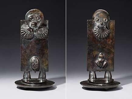 """Max Ernst, """"L'oiseau Janus"""" (Vogel Janus), Bronze mit braun-schwarzer Patinierung 1974"""