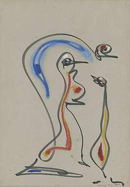 """Max Ernst, zu """"Les chiens ont soif"""" (Die Hunde dürsten)"""