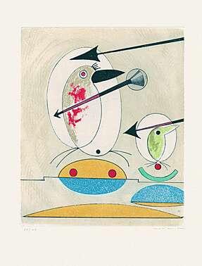 """Max Ernst, """"Si le chant et la parade ne suffisent pas"""" aus """"Oiseaux en péril"""""""