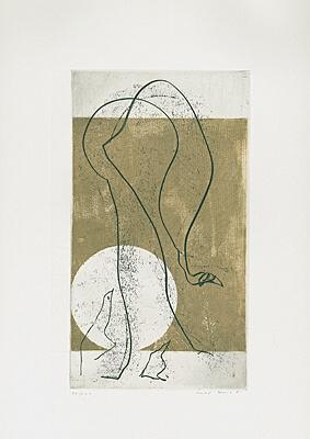 """Max Ernst, """"Ethernité"""" (Ewigkeit), Farbaquatintaradierung mit Prägedruck 1971"""