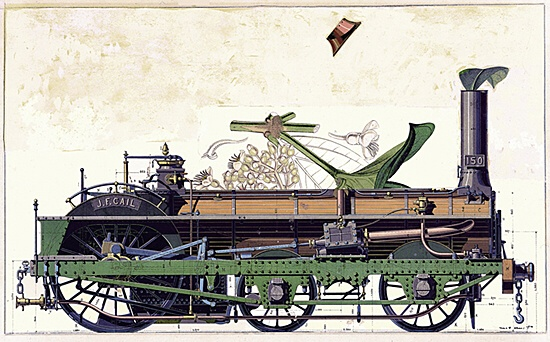 "Max Ernst, ""Jeune Fille changée en locomotive"" (Jg. Mädchen in Lokomotive verwandelt)"