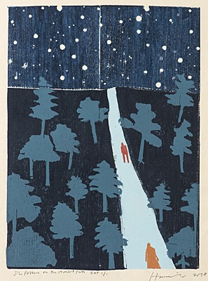 "Tom Hammick, ""She Follows on the Moonlit Path"""