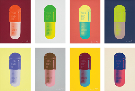"Damien Hirst, ""The Cure"", ""Works from Schizophrenogenesis"""
