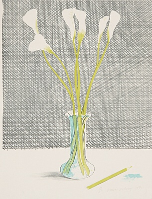 "David Hockney, ""Lillies (Still Life)"",Scottish Arts Council 118"