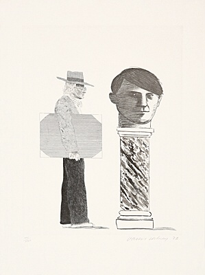 "David Hockney, ""The student: homage to Picasso"",Scottish Arts Council 153"
