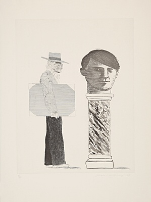 "David Hockney, ""The student: homage to Picasso"", Scottish Arts Council 153"