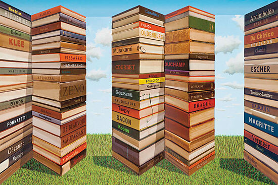 "Patrick Hughes, ""Bookends"""