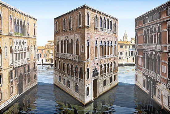 "Patrick Hughes, ""Picturesque Palazzo"""
