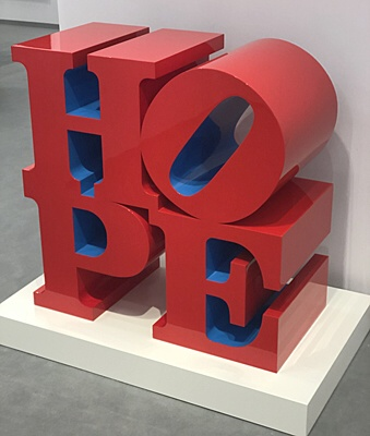 "Robert Indiana, ""HOPE"""