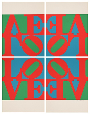 "Robert Indiana, ""Love Wall"" (Love Frieze), Sheehan 40"