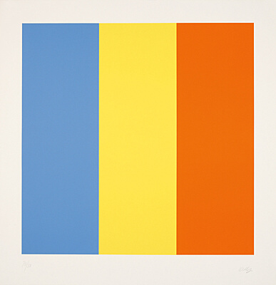 "Ellsworth Kelly, ""Blue Yellow Red"",Axsom 258"