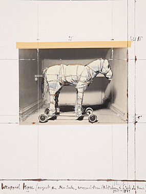 "Christo & Jeanne-Claude, ""Wrapped Horse"" (Project for Neo-Dada, Wrapped), Schellmann 141"