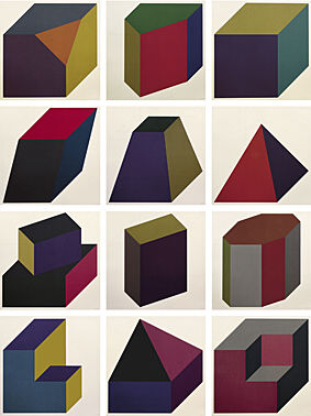 "Sol LeWitt, ""Forms derived from a cube"""