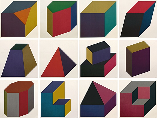 "Sol LeWitt, ""Forms derived from a cube"",Krakow 1991.15"