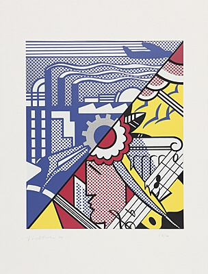 "Roy Lichtenstein, ""Industry and the arts (I)"",Corlett 85"