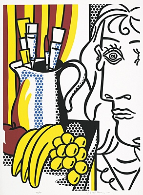 "Roy Lichtenstein, ""Still Life with Picasso"",Corlett 127"
