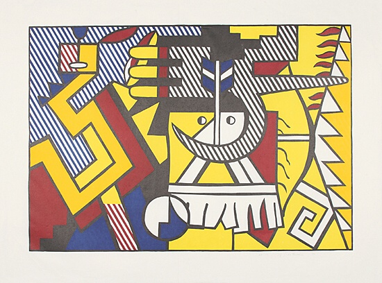 "Roy Lichtenstein, ""American Indian Theme VI"",Corlett 165"