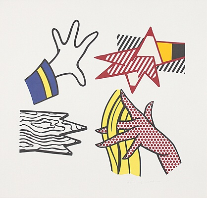 "Roy Lichtenstein, ""Study of hands"",Corlett 191"