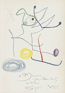 "Joan Miró, ""Composition for Josef L. Luis Sert"""