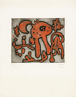 "Joan Miró, aus ""The prints of Joan Miró"" (Michel Leiris), Dupin 47, Cramer 13"