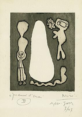 "Joan Miró, aus ""L'Antitête"", Band 3, le Desesperanto von Tristan Tzara"