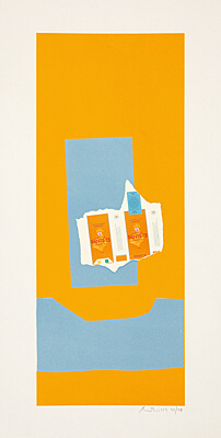 "Robert Motherwell, ""Harvest, with Blue Shadow"", Belknap 125"