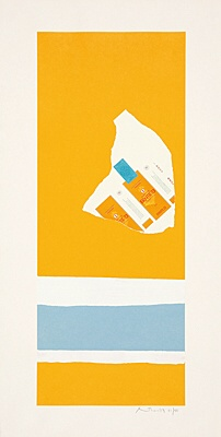 "Robert Motherwell, ""Harvest, with Two White Stripes"", Belknap 126"