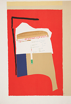 "Robert Motherwell, ""America - La France Variations I"", Belknap 297"