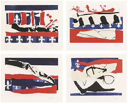Robert Motherwell, French Revolution Bicentenniel Suite, Belknap 350 - 353