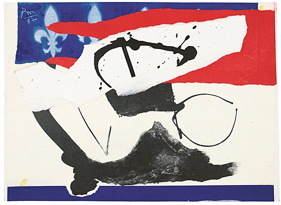 "Robert Motherwell, ""French Revolution Bicentennial No. 5"",Flam 