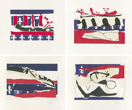 Robert Motherwell, French Revolution Bicentenniel Suite II - V, Belknap 350 - 353