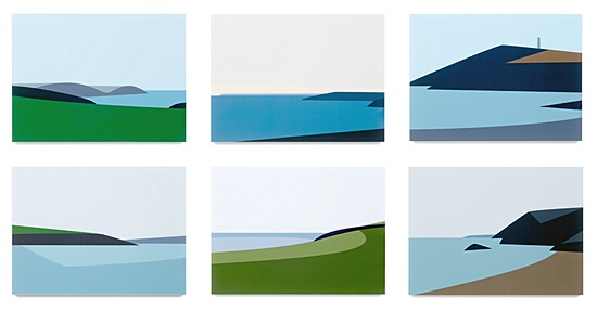 "Julian Opie, ""Cornish Coast 2."""