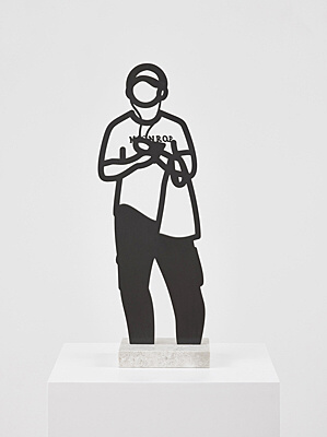 "Julian Opie, ""Headphones."""