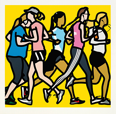 "Julian Opie, ""Running women"""