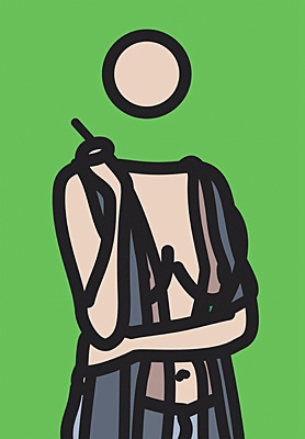 "Julian Opie, ""Ruth with Cigarette 5"""