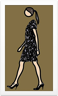 "Julian Opie, ""Verity walking"""
