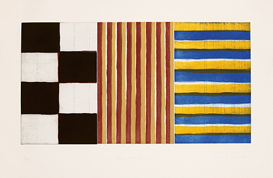 "Sean Scully, ""Black Red Blue"", Martino 94001"