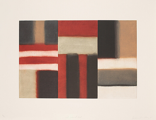 "Sean Scully, ""Cut Ground Red"",  nicht mehr bei Martino"