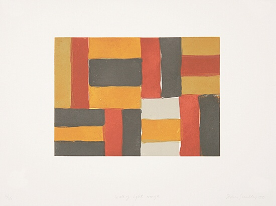 "Sean Scully, ""Wall of light orange"",  nicht mehr bei Martino"