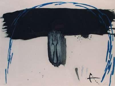"Antoni Tàpies, ""Arc bleu"", Farbradierung mit Carborundum 197"